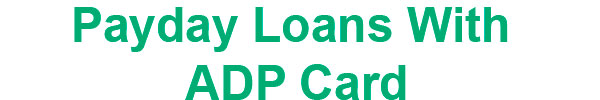 adp payday loans