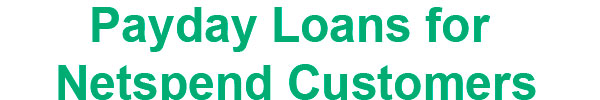 payday loans for netspend customers